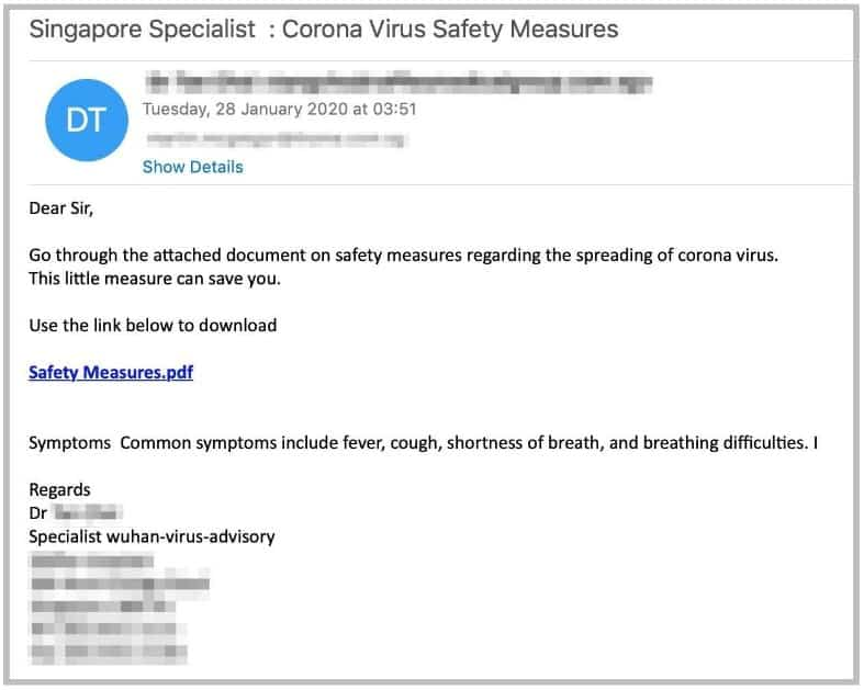 Fake CDC Emails Midst of COVID-19